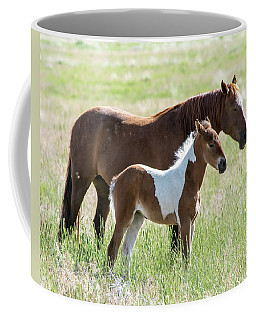 Coffee Mug featuring the photograph Wild Foal With A Horse Pattern  by Mary Hone