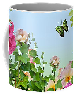 Coffee Mug featuring the painting Wild Garden by Ivana Westin