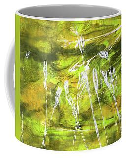 Coffee Mug featuring the painting Wild Grass 9 by Nancy Merkle