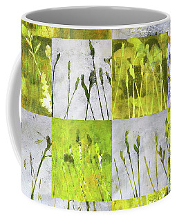 Coffee Mug featuring the painting Wild Grass Collage 3 by Nancy Merkle