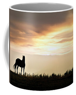 Wild Horse Sunset Coffee Mug by Leland D Howard