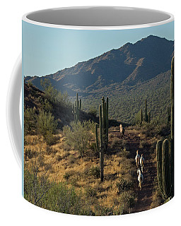 Wild Horses Of The Sonoran Desert Coffee Mug by Sue Cullumber