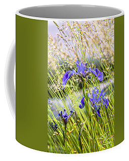 Wild Irises Coffee Mug by Marty Saccone