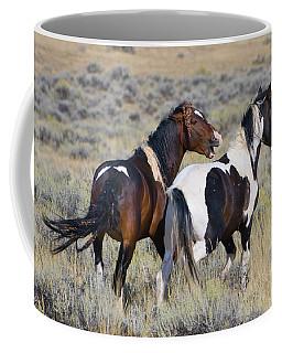 Wild Mustangs Playing Coffee Mug