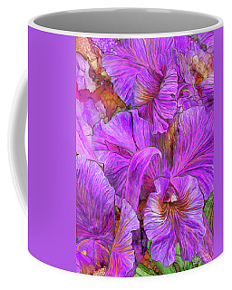 Coffee Mug featuring the mixed media Wild Orchids by Carol Cavalaris