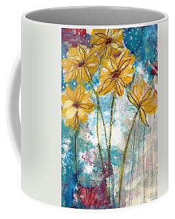 Wild Sunflowers- Art By Linda Woods Coffee Mug