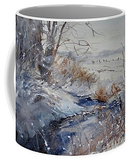 Coffee Mug featuring the painting Wild Turkey In The Storm by Sandra Strohschein