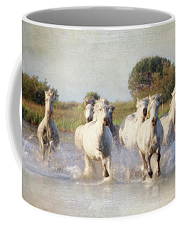 Wild White Horses Of The Camargue Vl Coffee Mug