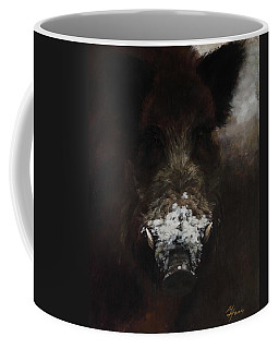 Wildboar With Snowy Snout Coffee Mug