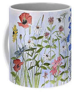 Wildflower And Blue Sky Coffee Mug by Laurie Rohner