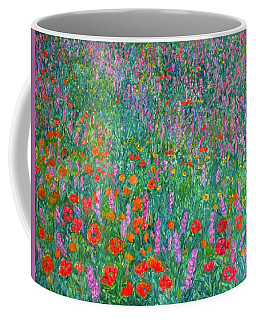 Coffee Mug featuring the painting Wildflower Current by Kendall Kessler