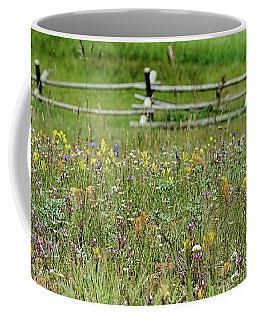 Wildflower Fence Coffee Mug