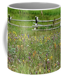 Coffee Mug featuring the photograph Wildflower Fence by Gaelyn Olmsted