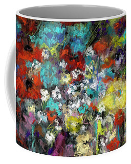Coffee Mug featuring the painting Wildflower Field by Frances Marino