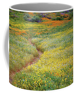 Wildflower Field Near Diamond Lake In California Coffee Mug