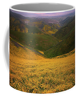 Wildflower Field Up In The Temblor Range At Carrizo Plain National Monument Coffee Mug by Jetson Nguyen