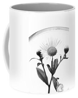 Wildflower In A Wine Glass Black And White Coffee Mug