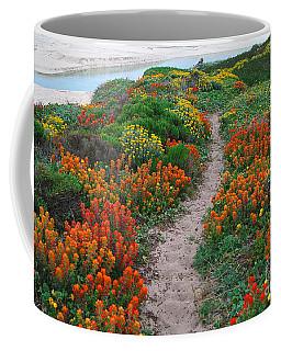 Wildflower Path At Ribera Beach Coffee Mug