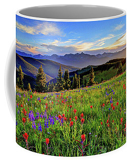 Wildflower Sunset Hill Coffee Mug by Scott Mahon
