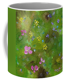 Coffee Mug featuring the painting Wildflower Support by Judith Rhue