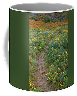 Wildflower Trail At Diamond Lake In California Coffee Mug by Jetson Nguyen