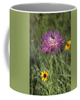 Coffee Mug featuring the photograph Wildflowers And Friend by Sheila Brown