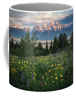 Coffee Mug featuring the photograph Wildflowers At Grand Teton National Park by James Udall