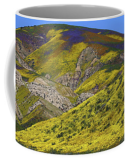 Wildflowers Galore At Carrizo Plain National Monument In California Coffee Mug