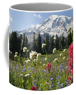 Wildflowers In Mount Rainier National Coffee Mug