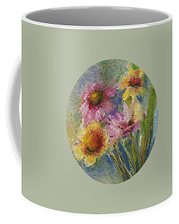 Coffee Mug featuring the painting Wildflowers by Mary Wolf