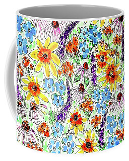 Coffee Mug featuring the painting Wildflowers  by Monique Faella