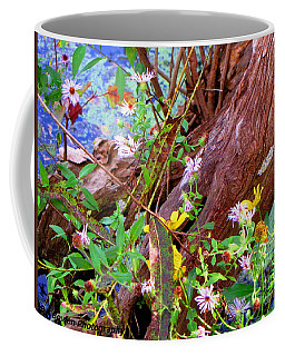 Wildflowers On A Cypress Knee Coffee Mug