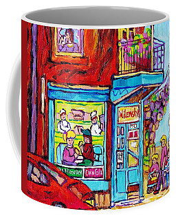 Wilensky Deli Dinner For Two Montreal Art Paintings Of Montreal C Spandau Montreal Street Scene Art  Coffee Mug