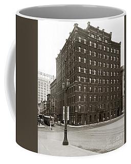 Wilkes Barre Pa Hollenback Coal Exchange Building Corner Of Market And River Sts April 1937 Coffee Mug