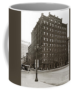 Wilkes Barre Pa Hollenback Coal Exchange Building Corner Of Market And River Sts April 1937 Coffee Mug