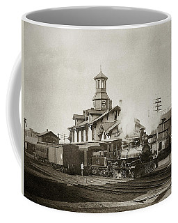 Wilkes Barre Pa. New Jersey Central Train Station Early 1900's Coffee Mug