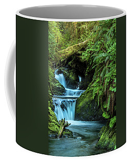 Coffee Mug featuring the photograph Willaby Creek Falls - Quinault Rainforest by Expressive Landscapes Fine Art Photography by Thom