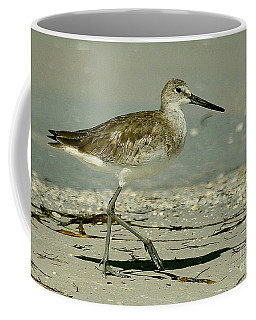 Willet At The Shoreline Coffee Mug by Myrna Bradshaw