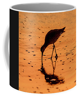 Willet On Sunrise Surf Coffee Mug