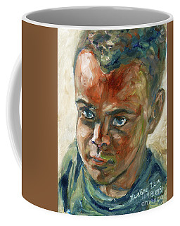 Coffee Mug featuring the painting Willful Boy by Xueling Zou