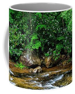 Williams River And Rhododdendron Coffee Mug