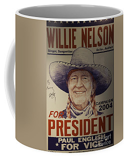 Willie For President Coffee Mug by Bob Hislop