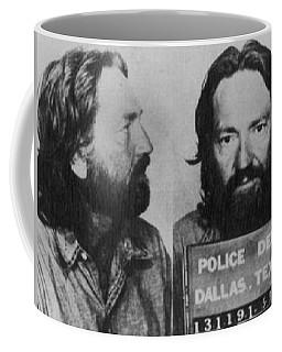 Willie Nelson Mug Shot Horizontal Black And White Coffee Mug