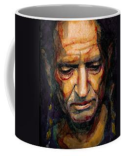 Willie Nelson Portrait 2 Coffee Mug by Laur Iduc