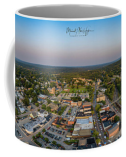 Coffee Mug featuring the photograph Willimantic Panorama by Michael Hughes
