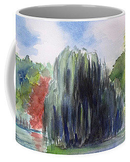 Willow Tree -2  Hidden Lake Gardens -tipton Michigan Coffee Mug by Yoshiko Mishina