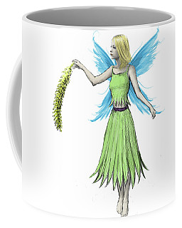 Willow Tree Fairy Holding A Catkin Coffee Mug