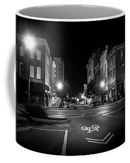 Wilmington Bike Lane In Black And White Coffee Mug