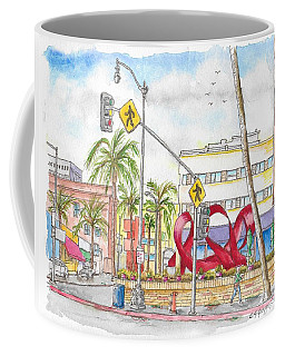 Wilshire Blvd. And Camden Dr, Charles Perry Sculpture, Beverly Hills, California Coffee Mug