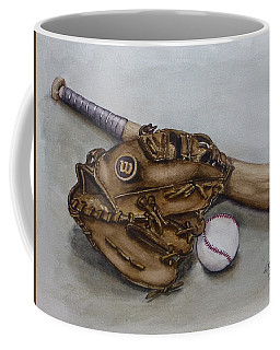 Wilson Baseball Glove And Bat Coffee Mug